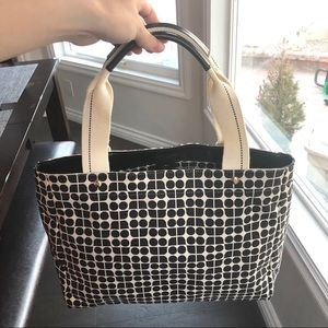 Kate Spade NWOT canvas tote with leather trim